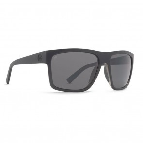 VonZipper DIPSTICK Black Satin / Full Frontal Grey Poly Polarized Sunglasses