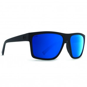VonZipper DIPSTICK Black Satin / Wildlife Blue Flash Polarized Sunglasses