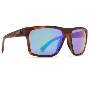 VonZipper DIPSTICK Tortoise Satin Wildlife Plus Green Chrome Polarized Sunglasses