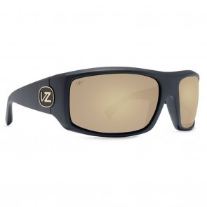 VonZipper CLUTCH Black Satin with Gold Glo Poly Polarized Sunglasses-SMPFACLU-BDP