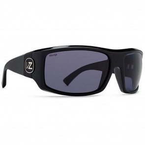 Vonzipper CLUTCH Black Gloss Wildlife Vintage Grey Polarized Sunglasses