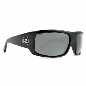 Vonzipper CLUTCH Black Satin Wildlife Grey Polarized Sunglasses