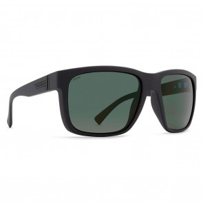 VonZipper MAXIS Black Smoke Satin Wildlife Vintage Green Polarized Sunglasses