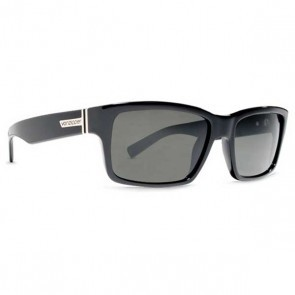 VonZipper FULTON Sunglasses Black Gloss / Grey Poly Polarized
