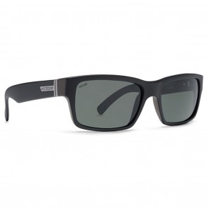 VonZipper FULTON  Black Smoke Satin / Wildlife Vintage Grey Polarized Sunglasses