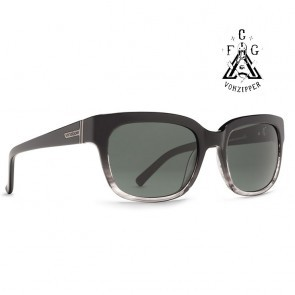 Von Zipper COMMONWEALTH FCG Black Gloss / Grey Sunglasses - (LTD)