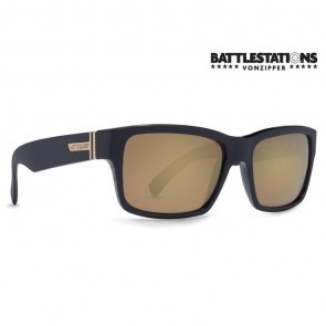 VonZipper FULTON Battlestations Black Gold Glo Sunglasses - (LTD)-SMRF7FUL-BKD