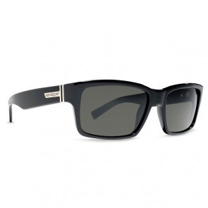 VonZipper FULTON Sunglasses Black Gloss with Grey