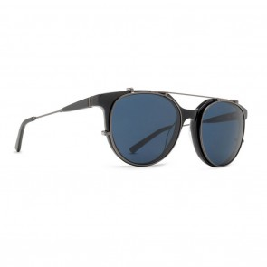 VonZipper HYDE Black Gloss Satin Gunmetal with Light Blue Vintage Sunglasses