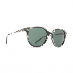 VonZipper HYDE Sunglasses with Horn Satin Gunmetal Frame and Grey Lens