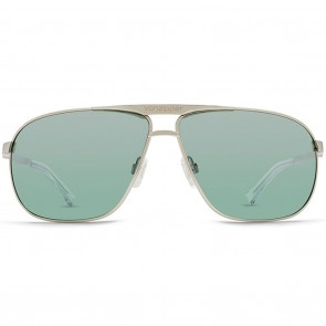 VonZipper SKITCH Silver Gloss Green Chrome Sunglasses