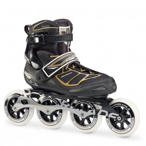 Rollerblade Tempest 100 C W Black and Gold Womens Inline Skates