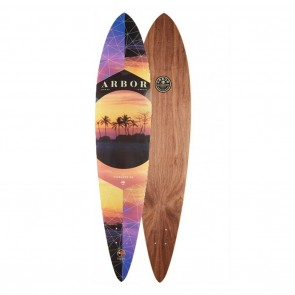 Arbor Timeless Walnut Pintail 42 PC Longboard Deck Only