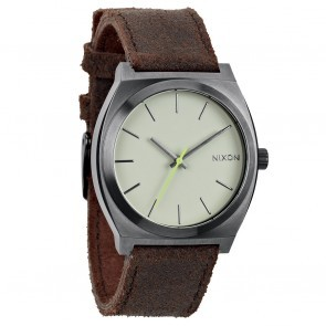 Nixon TIME TELLER Gunmetal with  Brown Watch-A045-1388