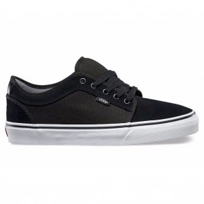 Vans CHUKKA LOW (Suede) Black / White Skateboard Shoes