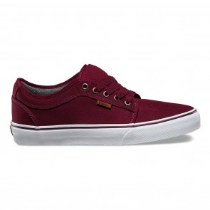 Vans CHUKKA LOW Skateboard Shoes - 10 OZ Canvas Port / White