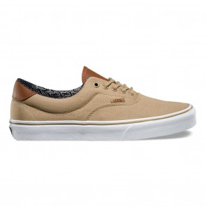 Vans ERA 59 (C&L) Skateboard Shoes - Khaki / Material Mix