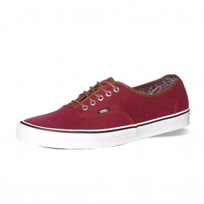Vans AUTHENTIC (Washed C&L) Rumba Red Skateboard Shoes