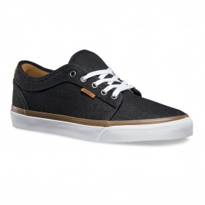 Vans CHUKKA LOW (Denim) Black White Skateboard Shoes