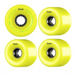THESE 66mm Yellow Skateboard wheels