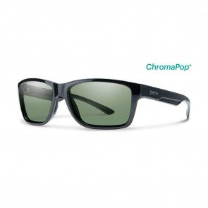 Smith WOLCOTT Black ChromaPop Polarized Grey Green Sunglasses