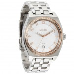 Nixon MONOPOLY Silver with Champagne Crystal Watch