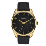 Nixon BULLET LEATHER Gold with Black Watch