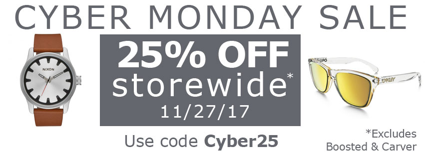 25% Off Cyber Monday 2017
